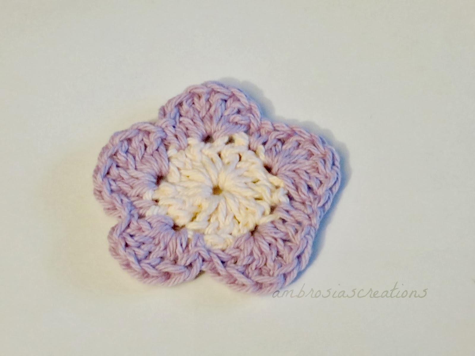Pattern Simple Crochet Flowers