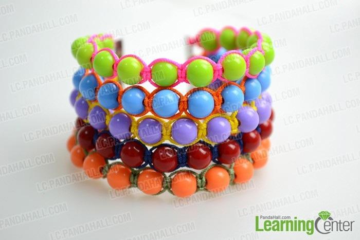 Bangle Making Tutorial How to Make Beaded Bangle Bracelets with Nylon Threads