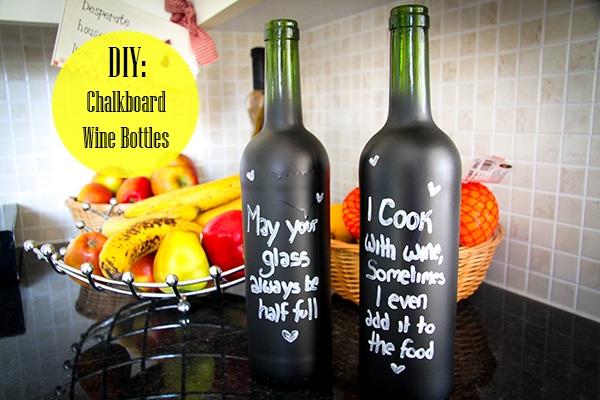 Home DIY How to Create Chalkboard Bottles