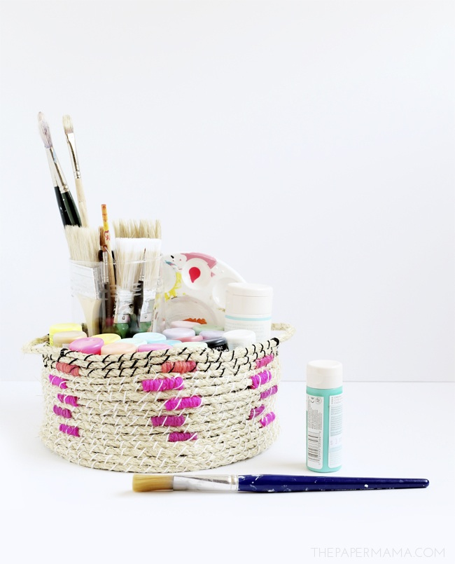DIY Easy Woven Rope Basket