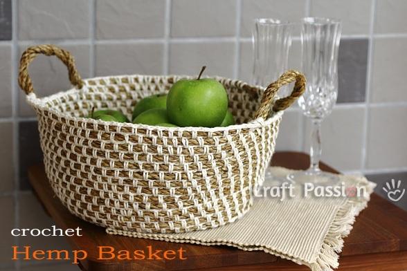 Hemp Basket Free Crochet Pattern