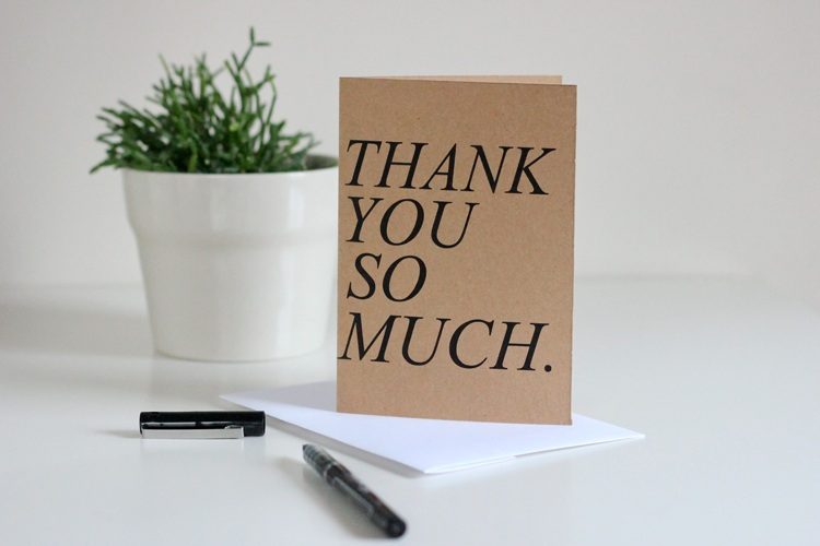 Free printable thank you cards.