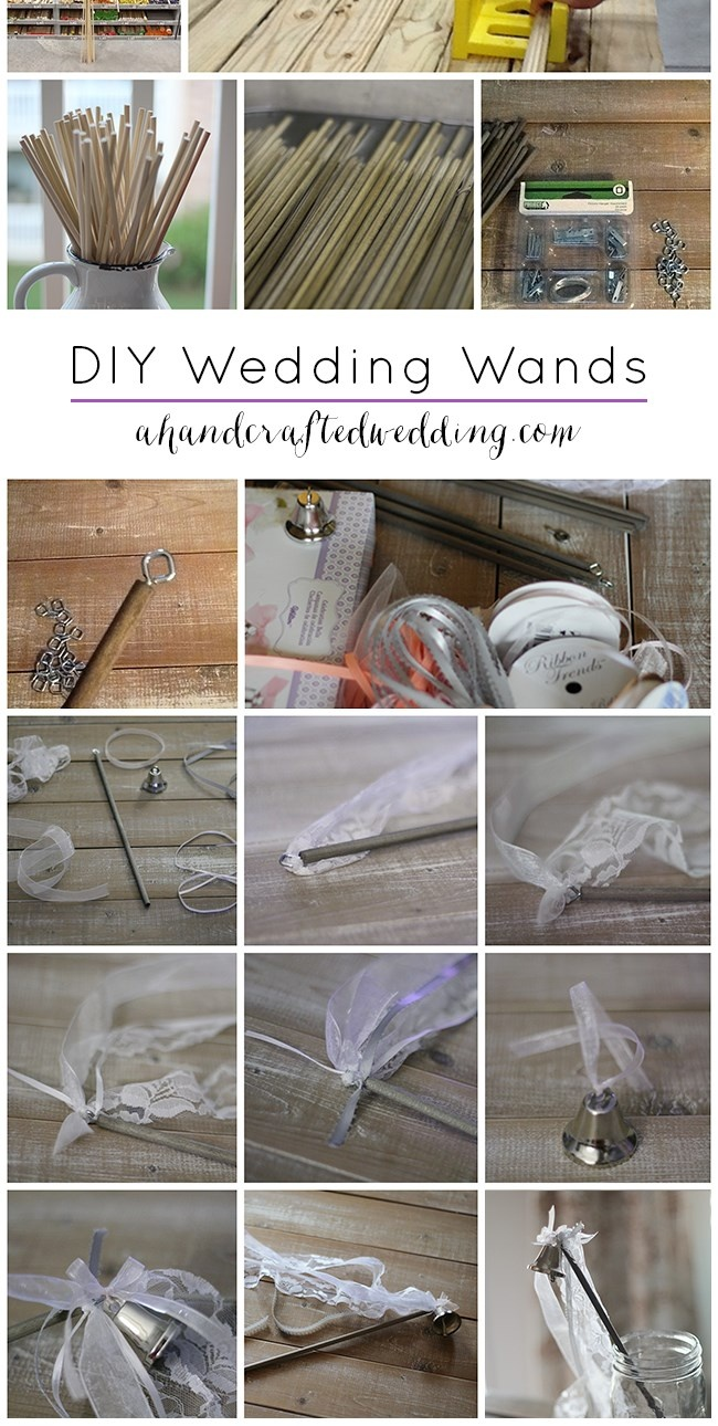 How to Make Ribbon Wedding Wands