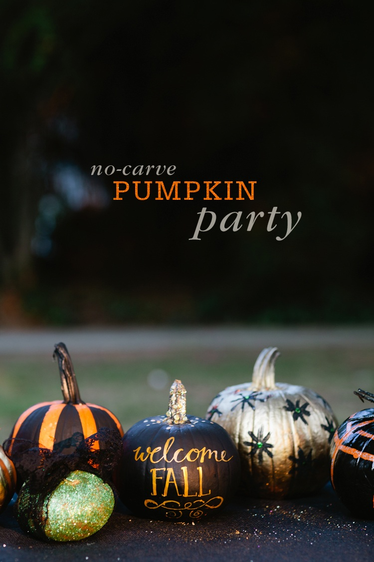 No Carve Pumpkin Decorating Party