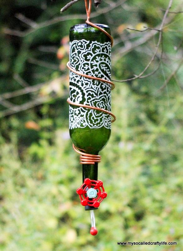 Protea Wine's Art Blossoms & DIY Wine Bottle Hummingbird Feeder