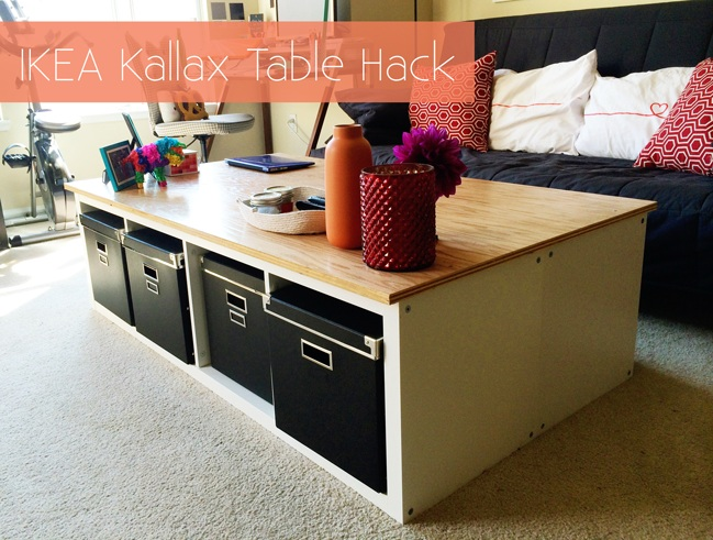 IKEA Kallax Table Hack