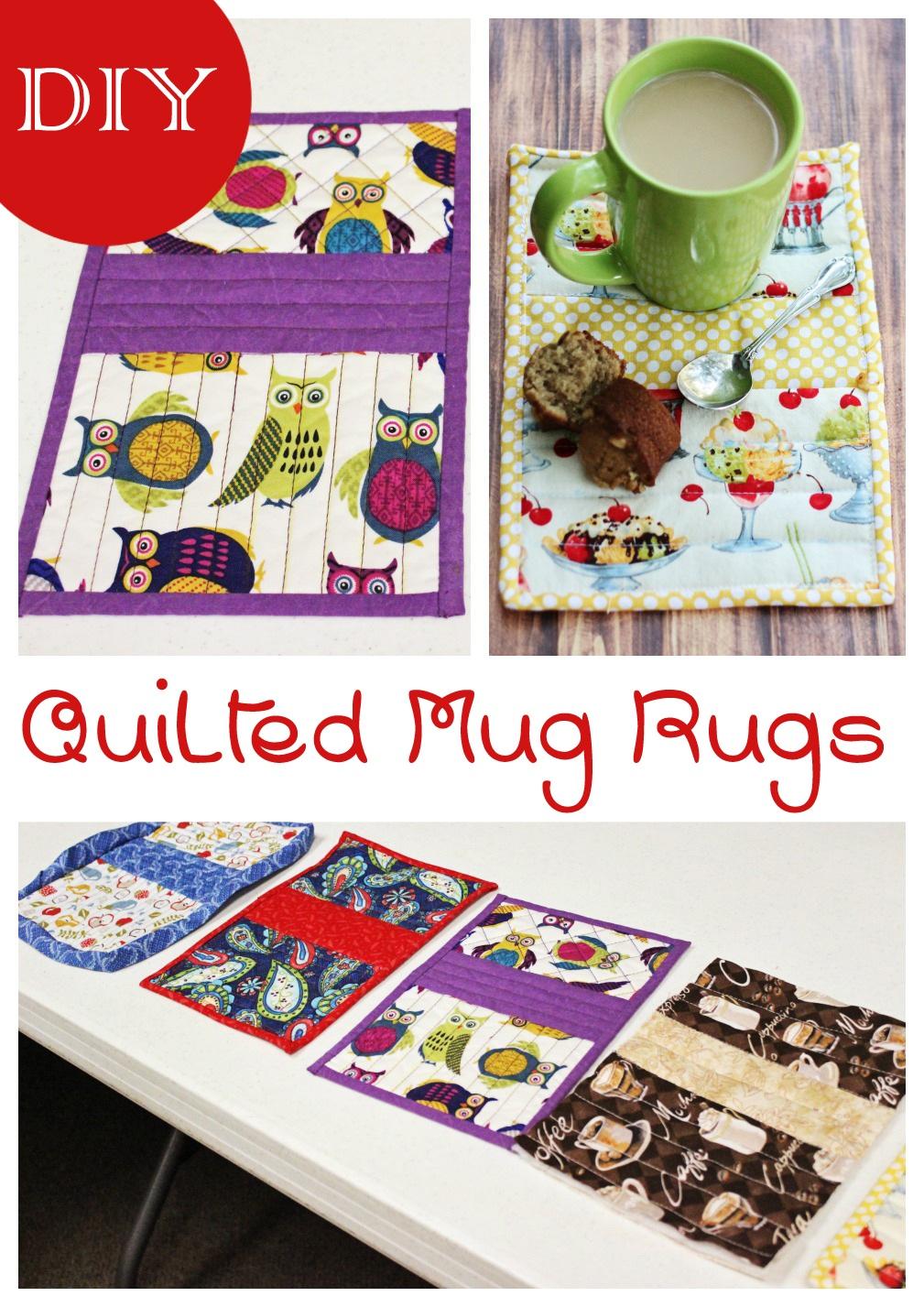 DIY Quilted Mug Rugs
