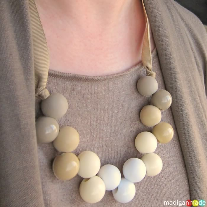 DIY Necklace from Ponytail Holder Hair Accessories ~ Madigan Made