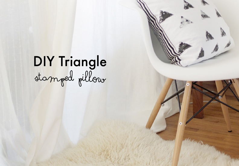 DIY Triangle Stamped Pillow