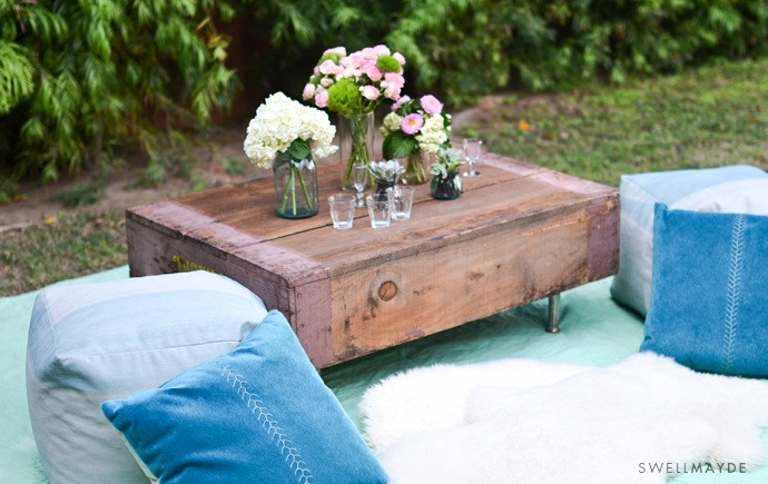 DIY REPURPOSED CRATE COFFEE TABLE