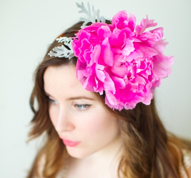 How To Make A Peony Headband A Floral DIY Tutorial