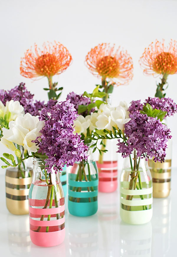 Earth Month DIY Upcycling Glass Bottles Into Vases
