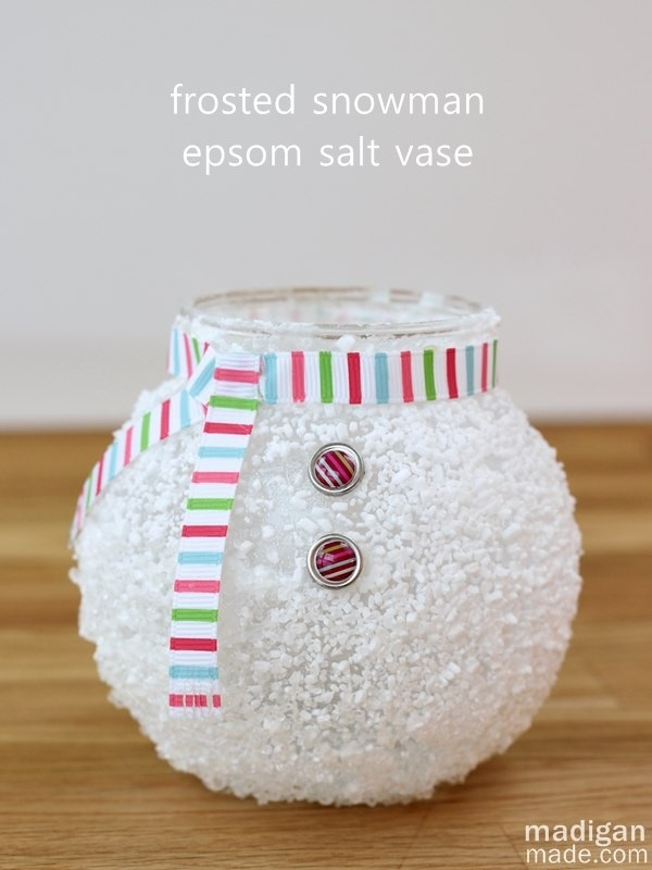 Epsom Salt Snowman Vase ~ Madigan Made
