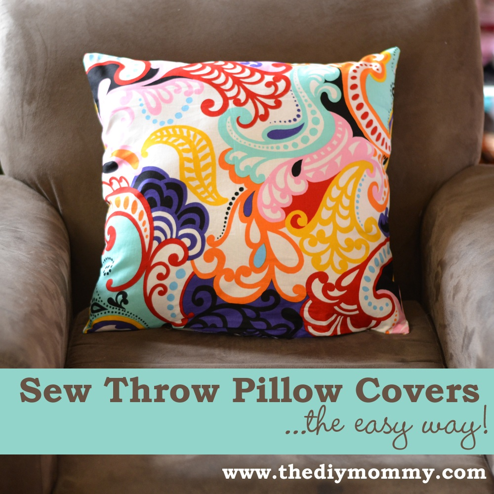Sew a Throw Pillow Cover The Easy Way!