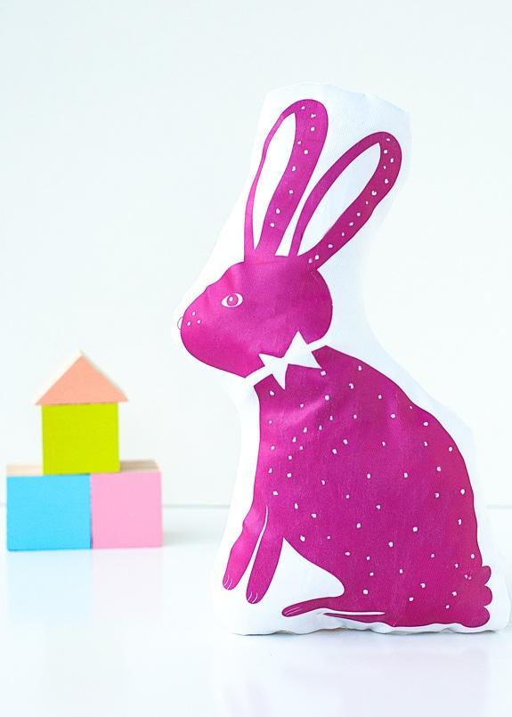 DIY Plush Rabbit Pillow