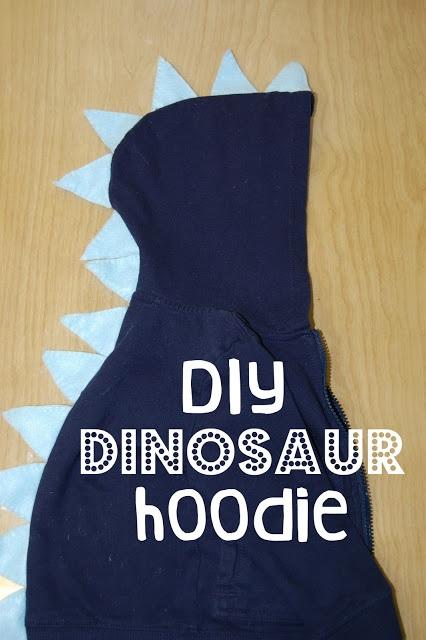 Dee wants, she's gonna get it DIY Dinosaur Hoodie Sweatshirt Recipes Craft Tutorials Fashion Motherhood