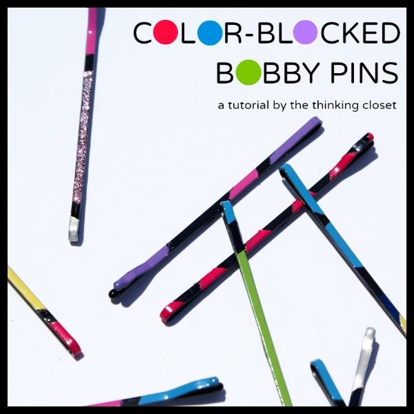 Color Blocked Bobby Pin Tutorial ¡ª the thinking closet