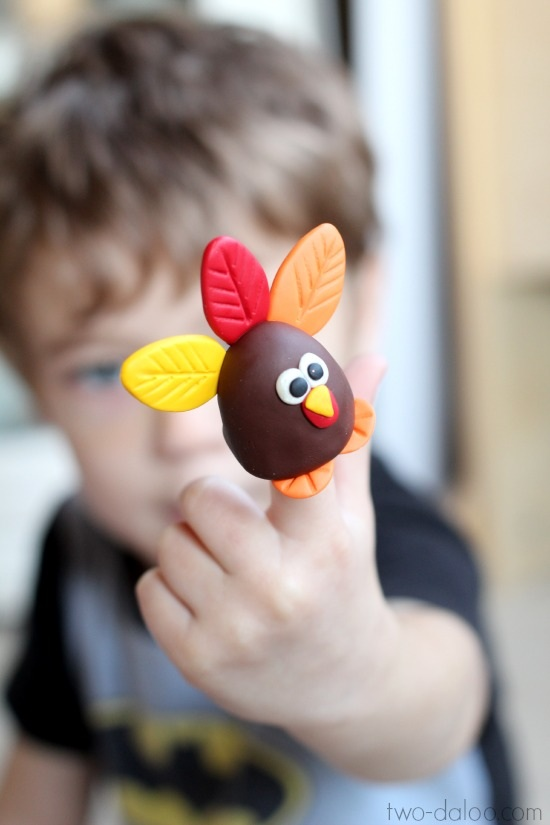 Sculpey Turkey Finger Puppet