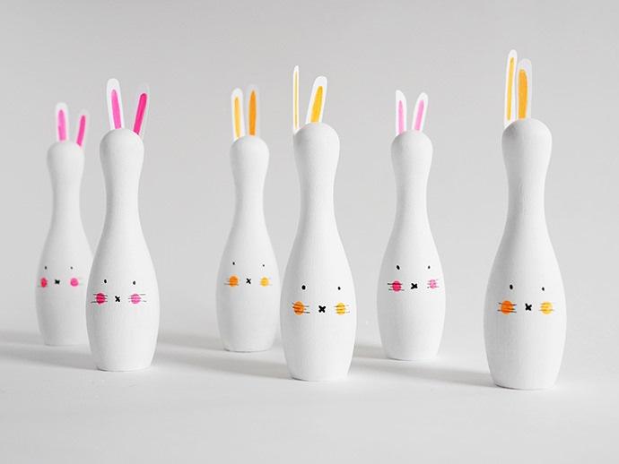 DIY Bunny Bowling Set