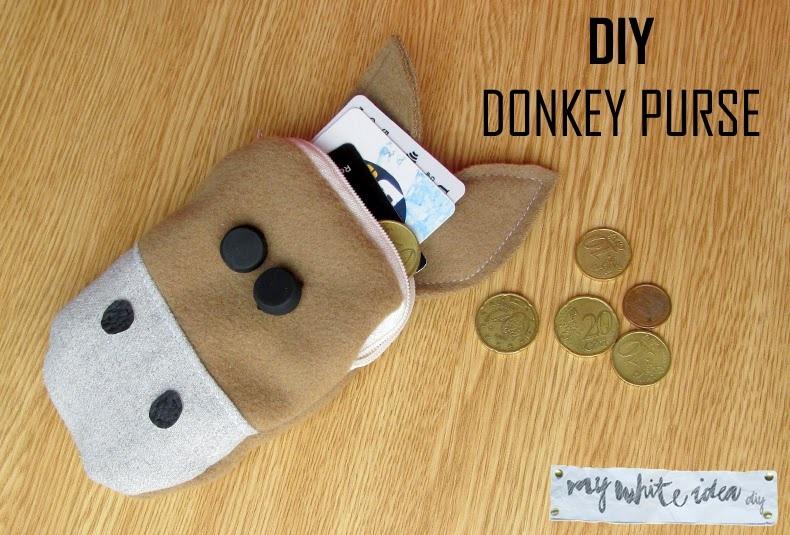 DIY DONKEY PURSE