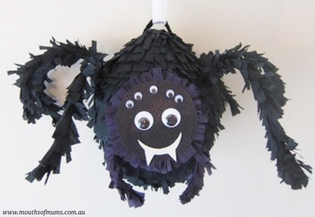 DIY Black spider pinata tutorial