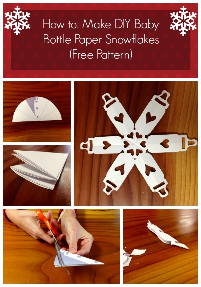 Diy Baby Bottle Paper Snowflakes Free Pattern Craftsmile