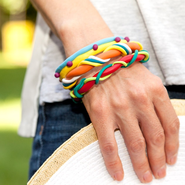 Colorful Bangle Bracelets by Trinkets in Bloom