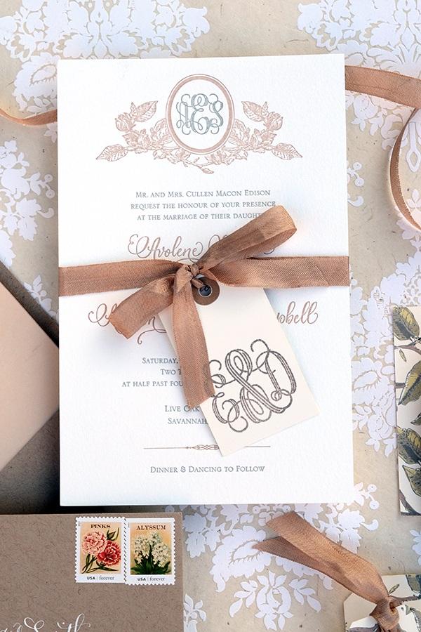 DIY Tutorial Savannah Inspired Floral Wedding Invitations