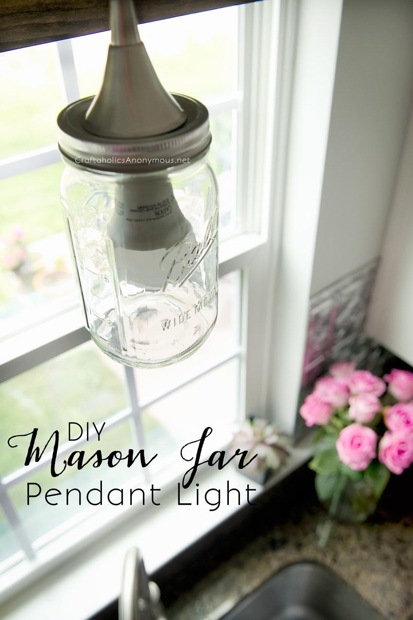 DIY Mason Jar Pendant Light Tutorial