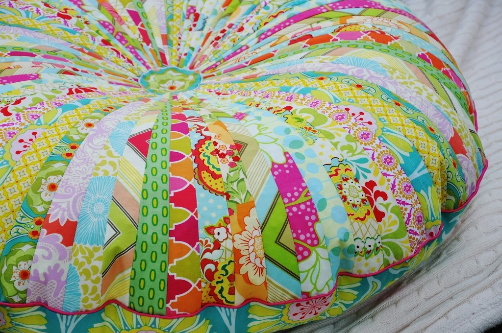 Made Jelly Roll Floor Pillow
