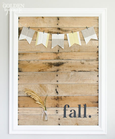 DIY Pallet Art Display and My Simple Fall Decor