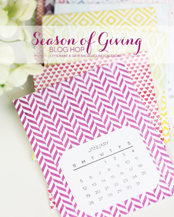 Seasons of Giving Blog Hop A Simple Stamped Calendar
