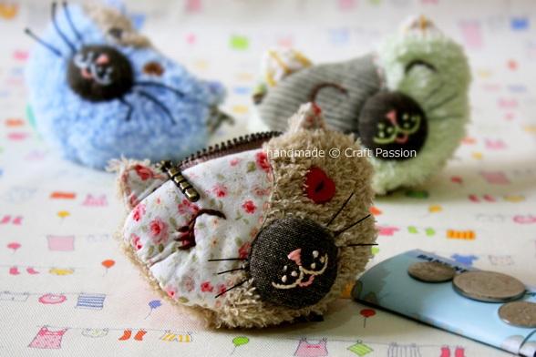 Sew Kitty Zipper Coin Purse