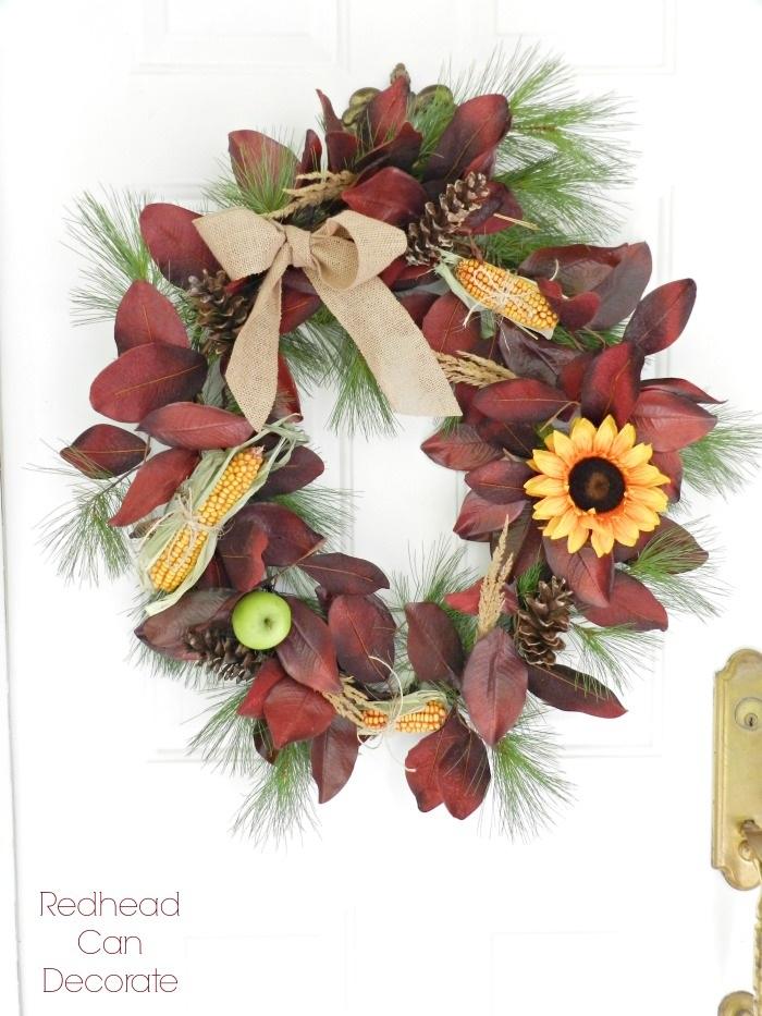 DIY Fall Corn Wreaths