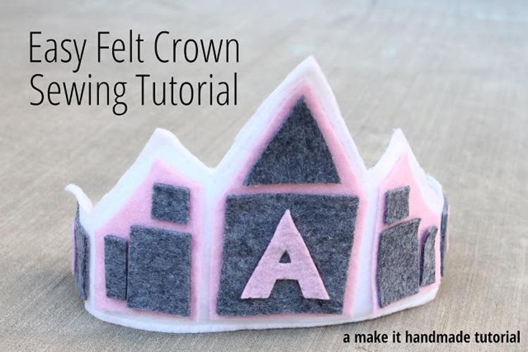 Easy Felt Crown Sewing Tutorial