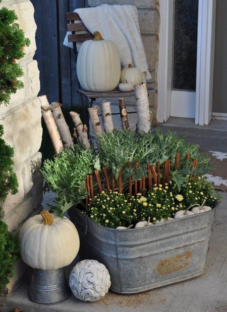 White Fall Outdoor Planter