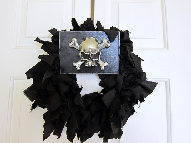 A motorcycle inspired Halloween wreath ~ Madigan Made