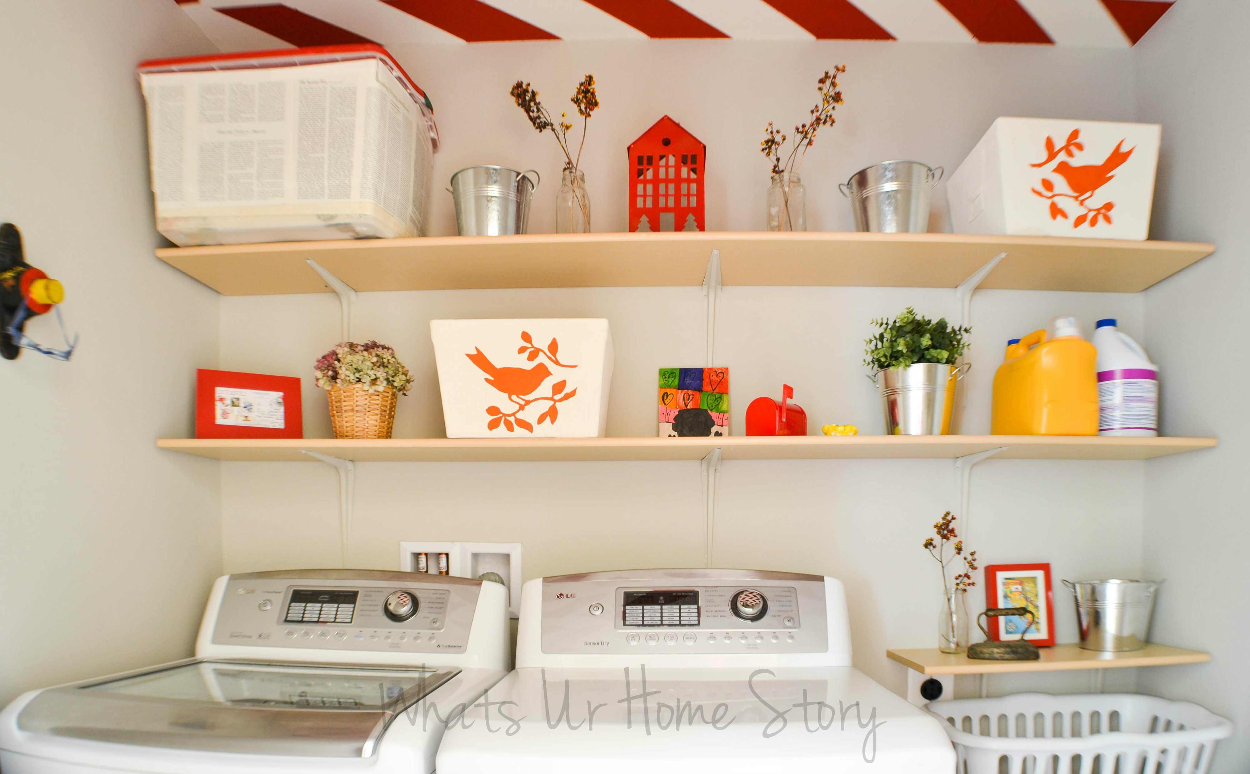 DIY Shelves for the Laundry Room