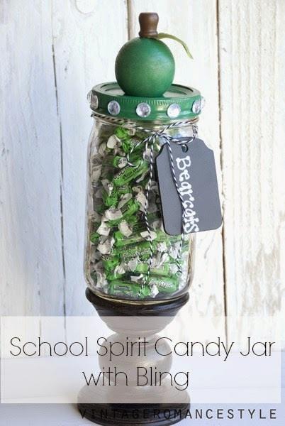 Teacher Gift Idea School Spirit Candy Jar