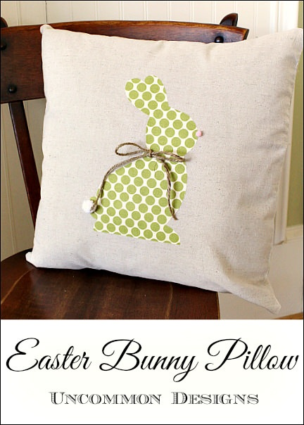No Sew Easter Bunny Pillow ... Swing Into Spring Craft Link Party