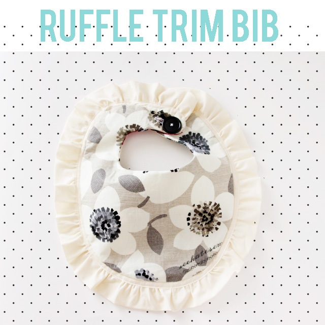 Free ruffle bib pattern + Benartex fabric giveaway!