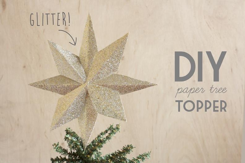 DIY Paper Tree Topper