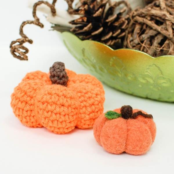 A Pumpkin Needle Felting Project and Pumpkin Roundup from #MyFavoriteBloggers