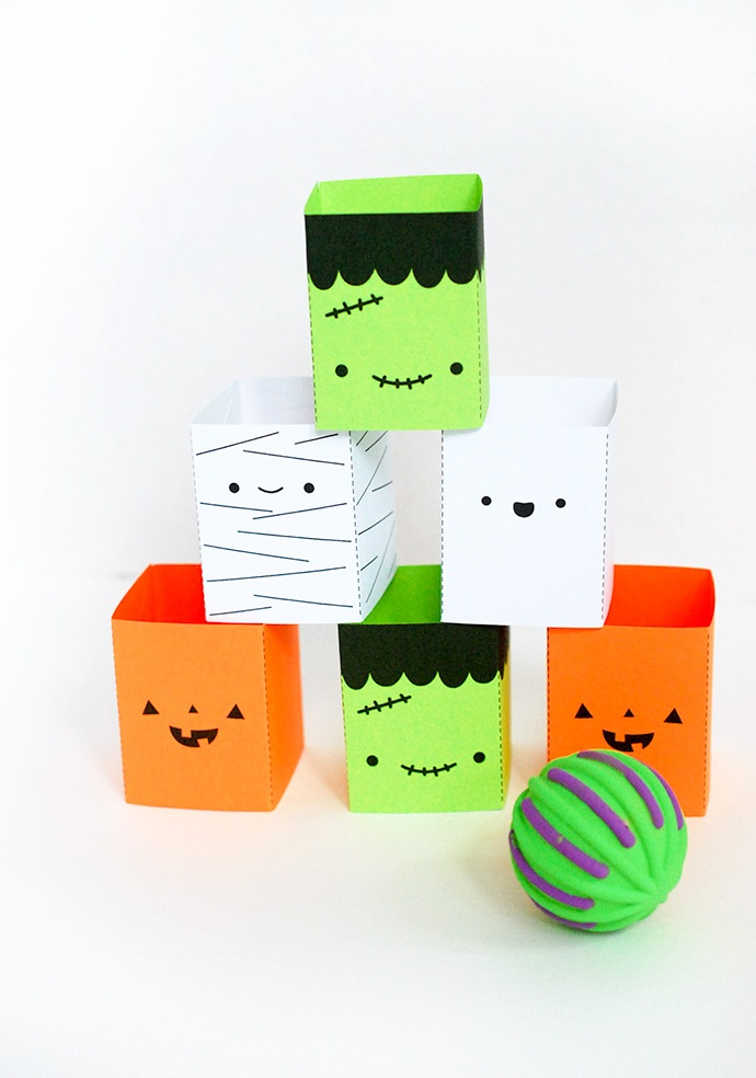 Printable Silly Stackers Game for Halloween