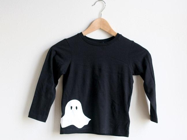 DIY Stenciled Ghost T Shirt