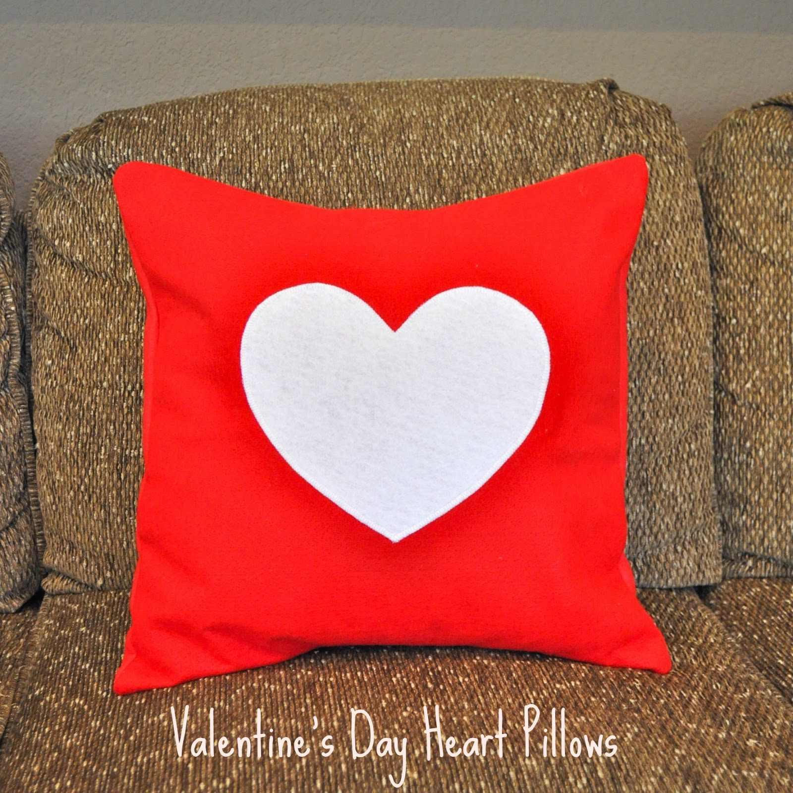 Valentine's Day Felt Heart Pillows