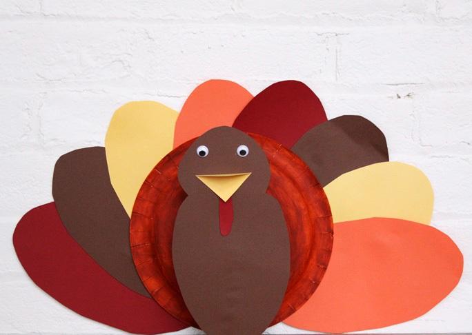 DIY Paper Plate Turkey