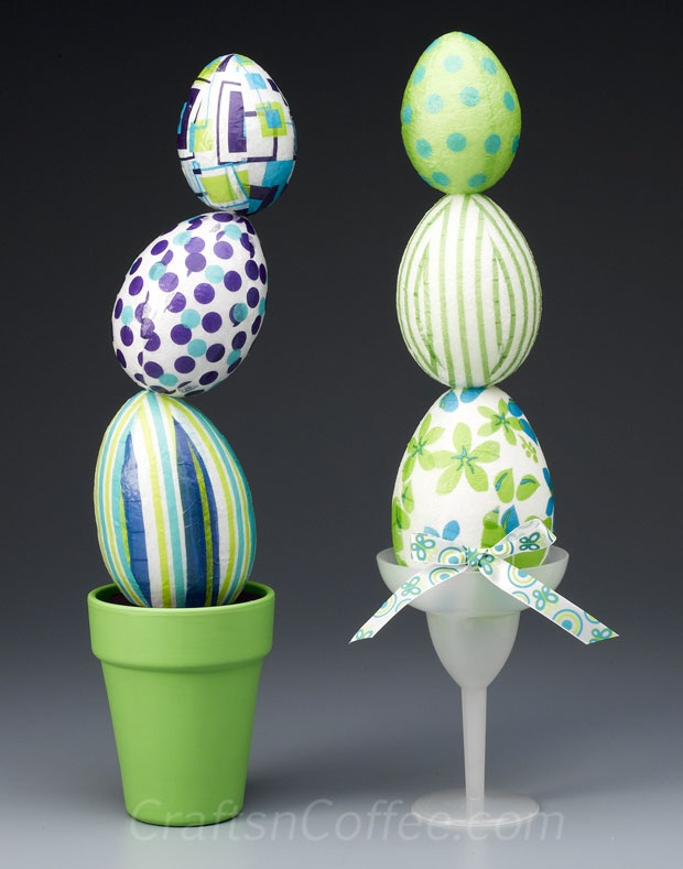 Easter Eggstravaganza Finale A DIY Easter Egg Topiary