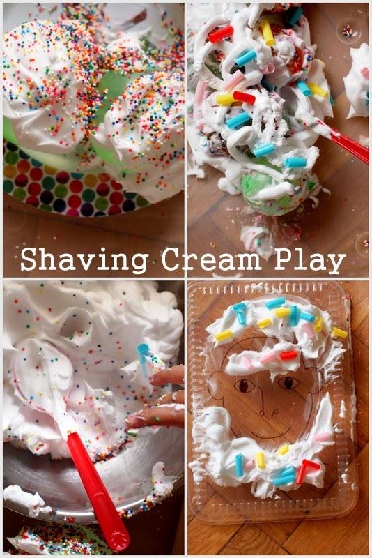 Shaving Cream and Water Balloon Play