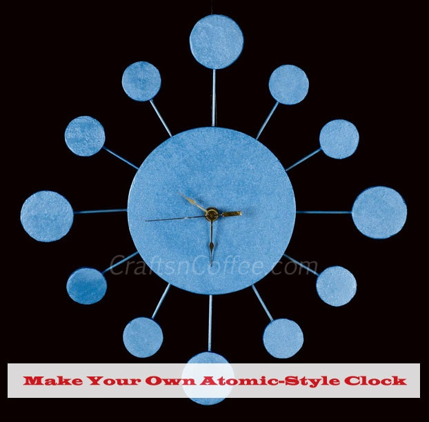 Blast from the past DIY a space age, Atomic Style Clock